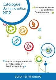Des technologies innovantes développées pour l'environnement ...