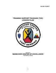 TSP lesson plan explain - Fort Benning