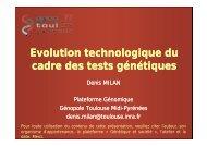 Présentation de Denis Milan - Plateforme génétique et société ...
