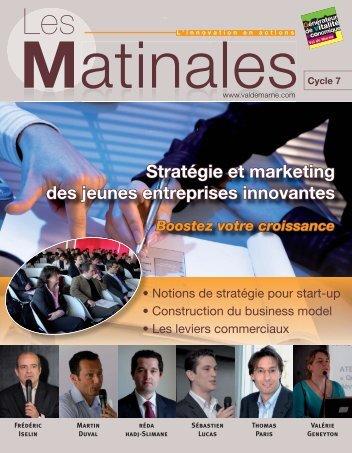 Stratégie et marketing des jeunes entreprises innovantes