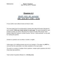 Eksamen 4.3 MedIS, AAU, 4th. semester 16th. June 2011, 9:00 – 12 ...