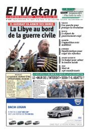 La Libye au bord de la guerre civile - E-monsite
