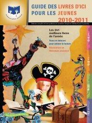 guide des livres d'ici pour les jeunes 2010-2011 - Communication ...