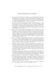 Die Autorinnen und Autoren der Beiträge