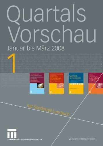Januar bis März 2008 - VS Verlag