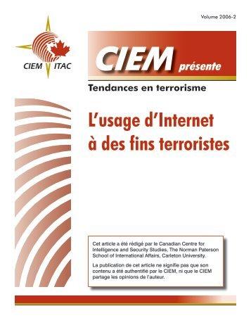 L'usage d'Internet à des fins terroristes - Www3.carleton.ca ...