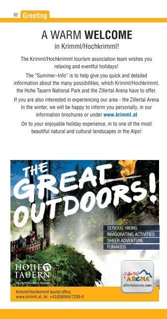 Summerprogram Nationalpark Hohe Tauern as PDF - Zillertal Arena
