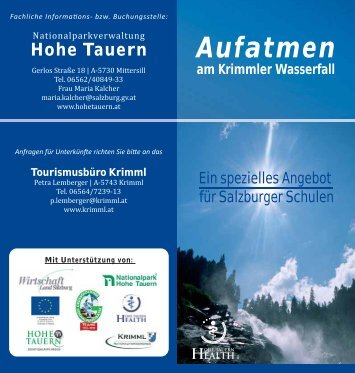 Aufatmen am Krimmler Wasserfall - Zillertal Arena