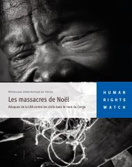 Les massacres de Noël - Human Rights Watch