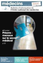 pages - Conseil National de l'Ordre des Médecins