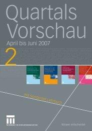 April bis Juni 2007 - Springer VS