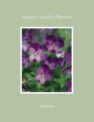Spring Garden Planner - Martha Stewart