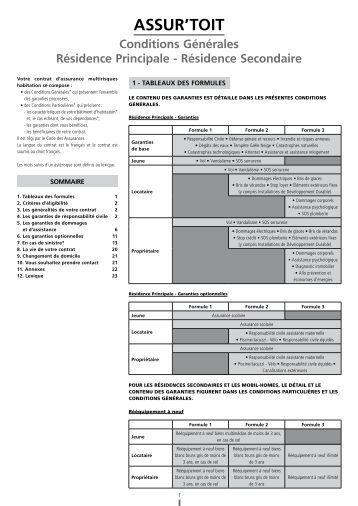 Conditions générales - Résidence Principale ... - Caisse d'Epargne
