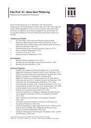 Pressemitteilung Vita Prof. Dr. Hans-Gert Pöttering - VS Verlag