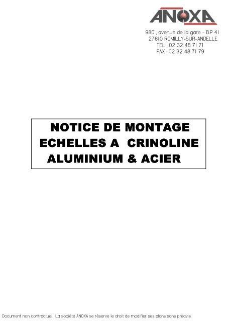 Notice De Montage échelle à Crinoline   Anoxa
