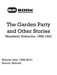 The Garden Party And Other Stories - Mansfield ... - Cove Systems