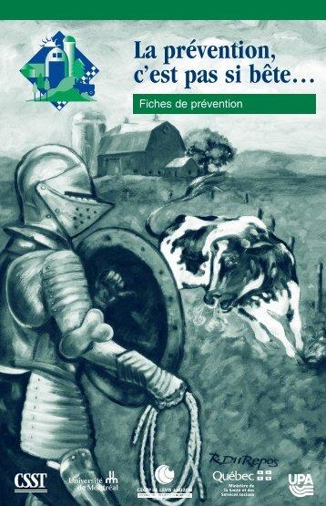 Télécharger le PDF (2.9 mo )La prévention, c'est pas si bête - CSST
