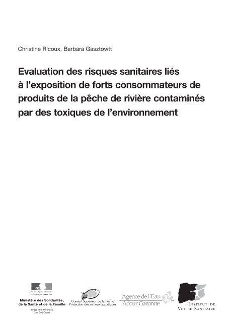 Evaluation Des Risques Sanitaires Liés à L Exposition De