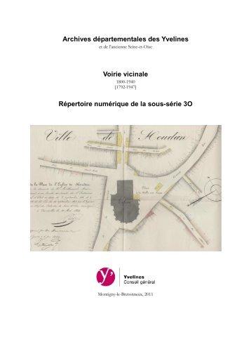 Voirie vicinale - Archives départementales des Yvelines - Conseil ...