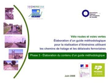 Vélo routes et voies vertes - Observatoire Régional des Transports ...
