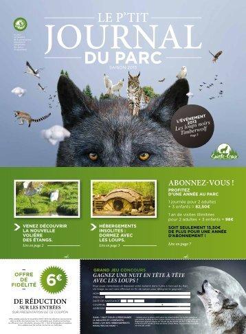 les 5 règles du parc - Parc Animalier de Sainte-Croix
