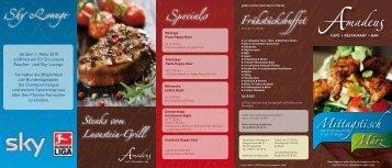 Specials Sky Lounge Frühstücksbuffet - Amadeus