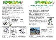 VÉLOS ÉLECTRIQUES – 2009 - ludospace.com