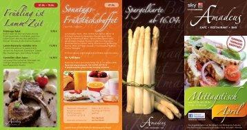 Frühstücksbuffet Sonntags- Frühling ist Lamm-Zeit - Amadeus