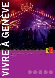 Magazine Vivre à Genève n° 49 - Ville de Genève