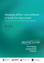 Managing diffuse water pollution in South East Queensland