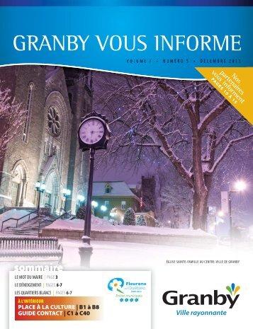 Granby vous informe, Volume 7, numéro 5 - Ville de Granby