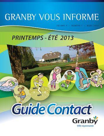 GRANBY VOUS INFORME - Ville de Granby
