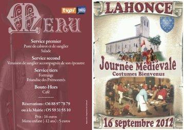 Fête Médiévale de Lahonce 2012 - Diocèse de Bayonne, Lescar et ...
