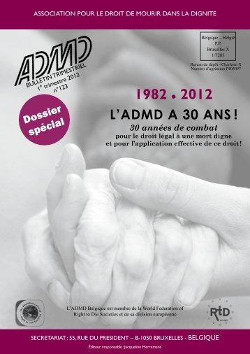 Notre bulletin 123 (mars 2012) - Association pour le Droit de Mourir ...