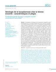Sérologie de la toxoplasmose chez la femme enceinte ... - Biorylis