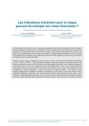 Les indicateurs d'aversion pour le risque peuvent-ils ... - Econometrie