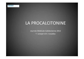 Intérêts et limites de la Procalcitonine