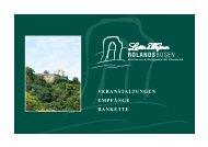 Ihre Veranstaltungen - Restaurant Rolandsbogen
