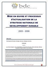 Mise en oeuvre et processus d'actualisation de la stratégie nationale ...