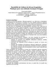 Sensibilité de l'oïdium du blé aux fongicides : Plaidoyer pour ... - Ensta