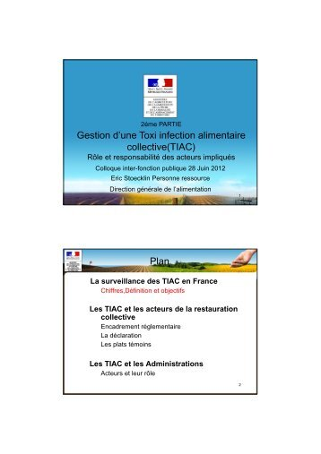 Gestion d'une Toxi infection alimentaire collective(TIAC) Plan - Anfh