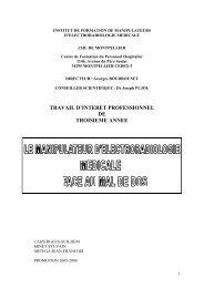 travail d'interet professionnel de troisieme annee - CHU Montpellier
