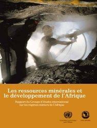 Les ressources minérales et le développement de l'Afrique Rapport ...