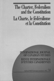 The Charter, Federalism, and the Constitution, La Charte - Conseil ...