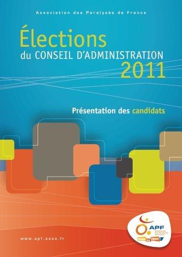 du CONSEIL D'ADMINISTRATION - APF