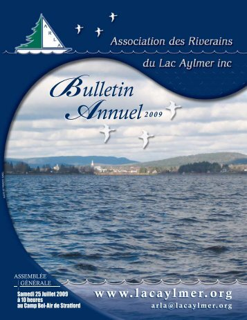 Bulletin annuel 2009 - Association des Riverains du Lac Aylmer