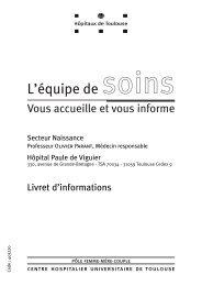 Livret d'accueil du Secteur Naissance - CHU Toulouse