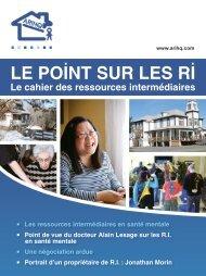 Le Point sur les RI - Printemps 2012 - ARIHQ