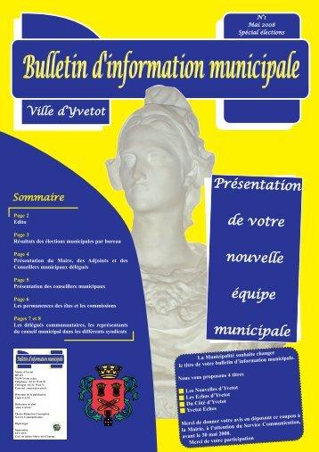 Bulletin d'information municipale - Yvetot