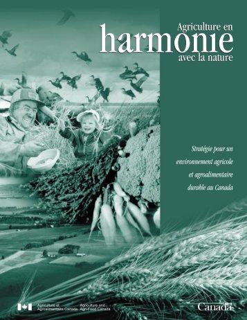 Agriculture en harmonie avec la nature - Agriculture et ...